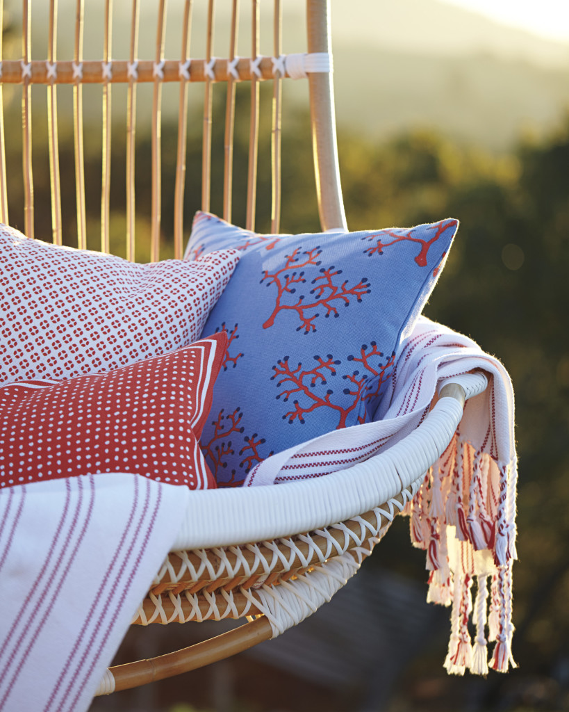 Coral Outdoor Pillow Cover- Serena & Lily
