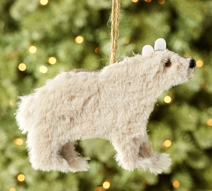 Corrugate Polar Bear Ornament- Pottery Barn